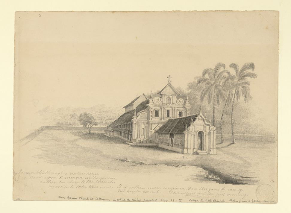 Syrian church at Kottayam, Travancore State